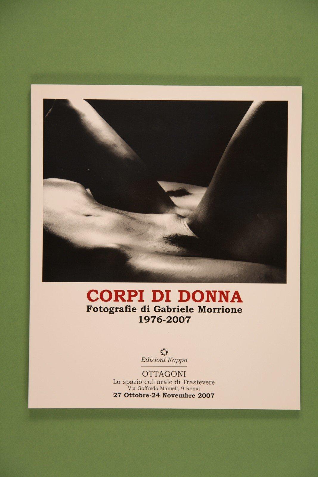 """Copertina del libro """"Corpi di donna"""" di Gabriele Morrione"""