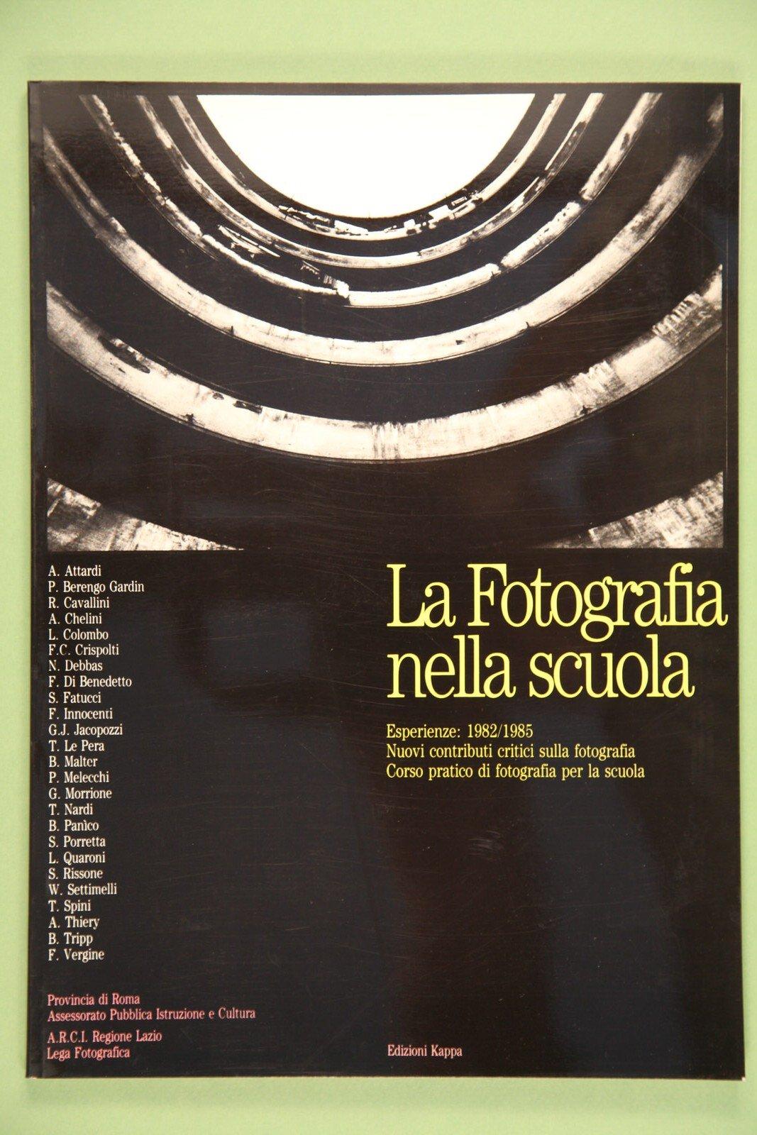 """Copertina del libro """"Fotografia nella scuola"""" di Gabriele Morrione"""