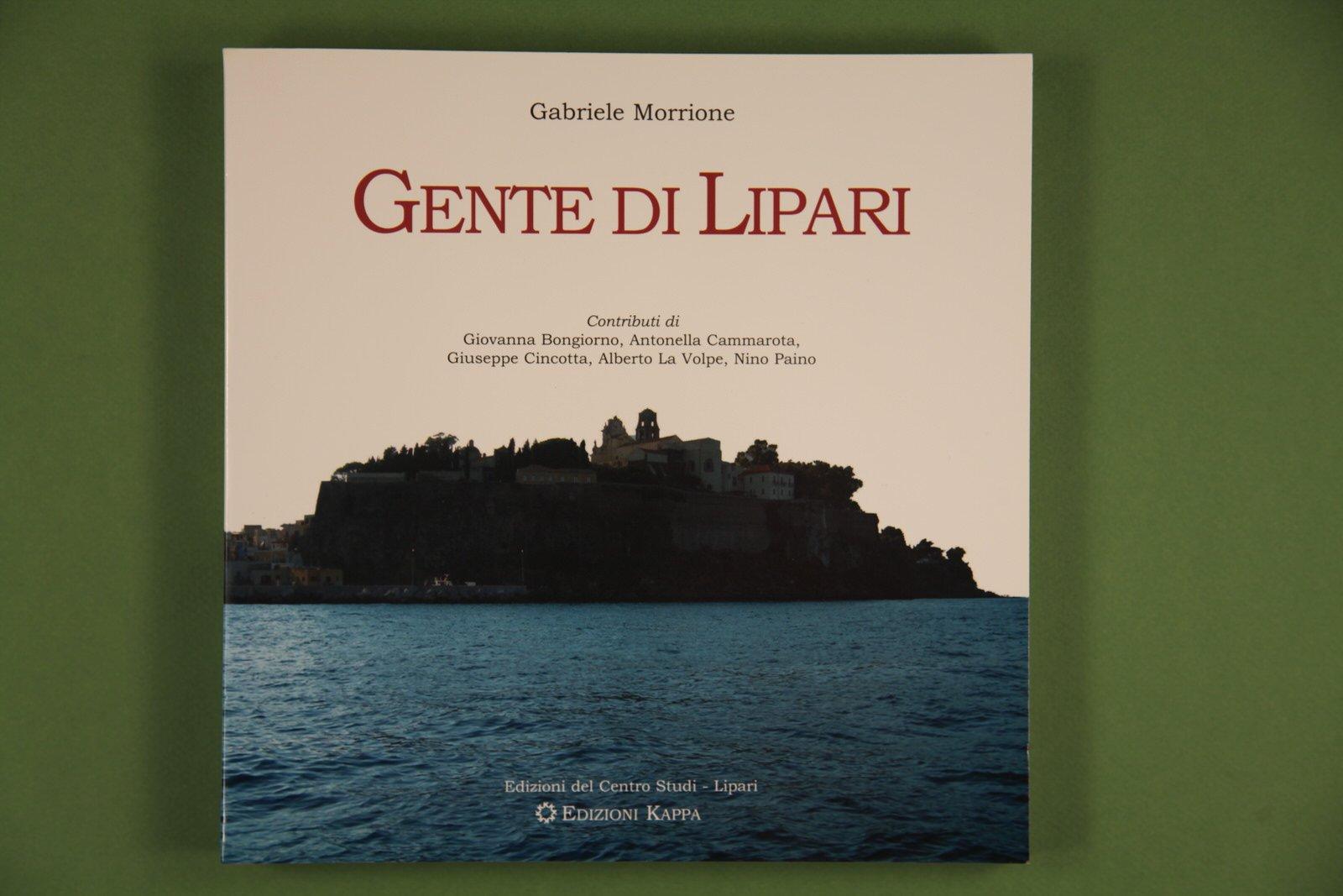 "Copertina del libro ""Gente di Lipari"" di Gabriele Morrione"