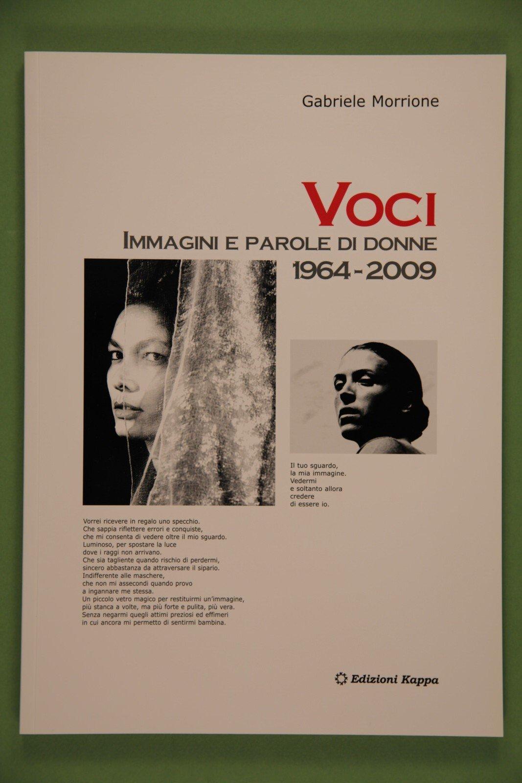 """Copertina del libro """"Voci"""" di Gabriele Morrione"""